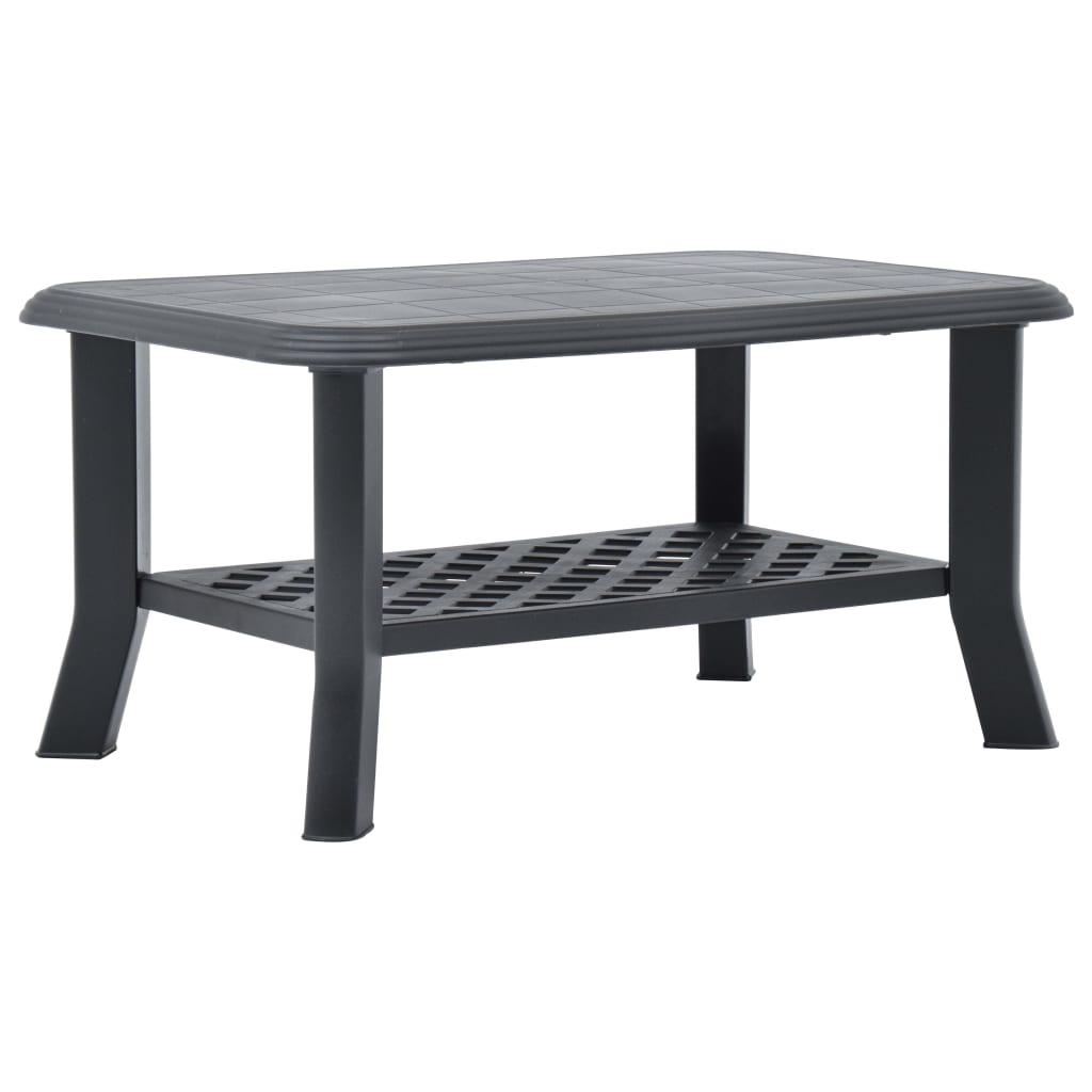 Konferenční stolek antracitový 90 x 60 x 46 cm plast