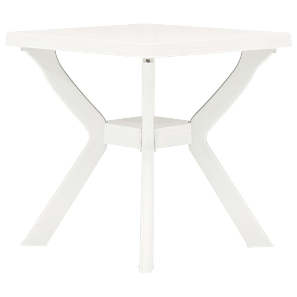 vidaXL Τραπέζι Bistro Λευκό 70 x 70 x 72 εκ. Πλαστικό