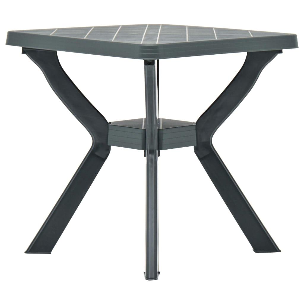 Bistro stolek zelený 70 x 70 x 72 cm plast