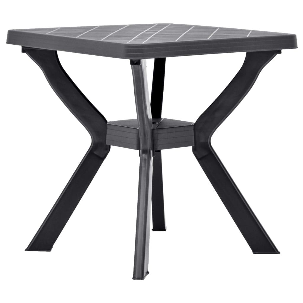 vidaXL Τραπέζι Bistro Ανθρακί 70 x 70 x 72 εκ. Πλαστικό
