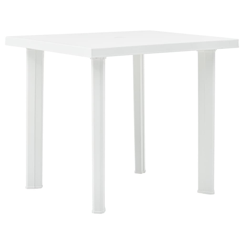 vidaXL Τραπέζι Κήπου Λευκό 80 x 75 x 72 εκ. Πλαστικό