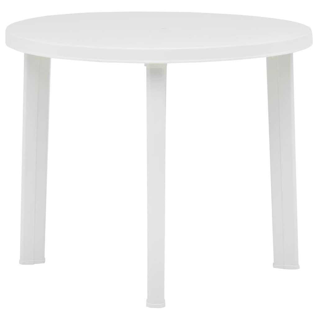 vidaXL Τραπέζι Κήπου Λευκό 89 εκ. Πλαστικό