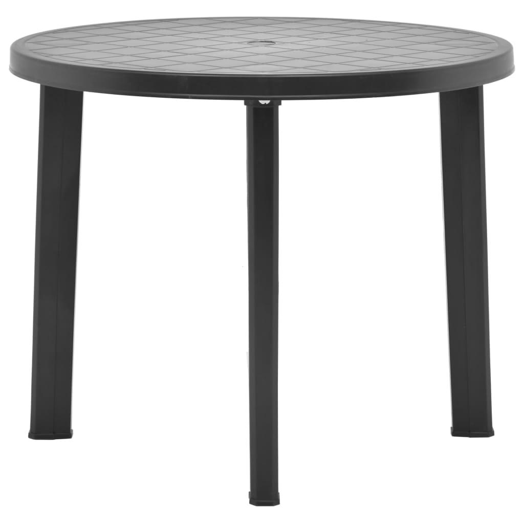 Zahradní stůl antracitový 89 cm plast