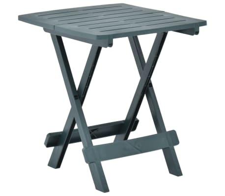 vidaXL Table pliable de jardin Vert 45x43x50 cm Plastique