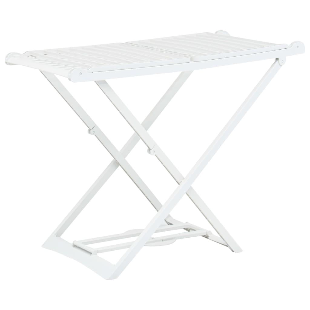 vidaXL Skládací sušák na prádlo bílý plast