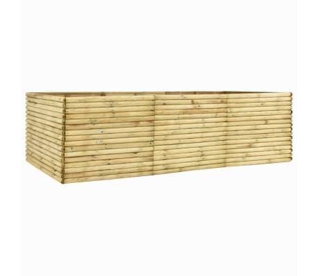 vidaXL Plantenbak verhoogd 300x50x96 cm geïmpregneerd grenenhout