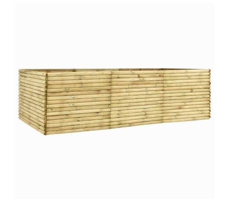 vidaXL Arriate de madera de pino impregnada 19 mm 300x100x96 cm
