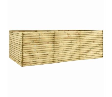 vidaXL Arriate de madera de pino impregnada 300x150x96 cm