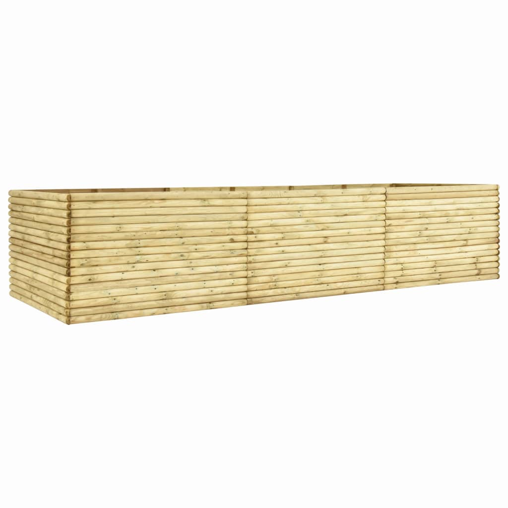 vidaXL Plantenbak 450x100x96 cm 19 mm geïmpregneerd grenenhout