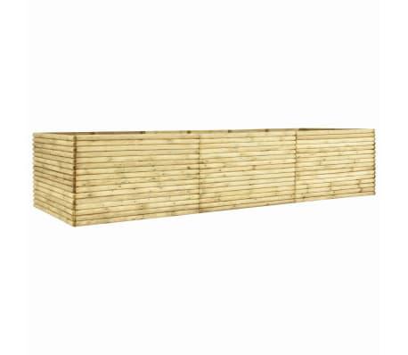 vidaXL Arriate de madera de pino impregnada 19 mm 450x100x96 cm