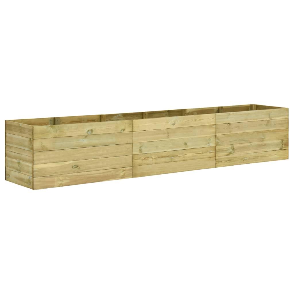vidaXL Strat înălțat de grădină, 450x50x54 cm, lemn de pin tratat poza vidaxl.ro
