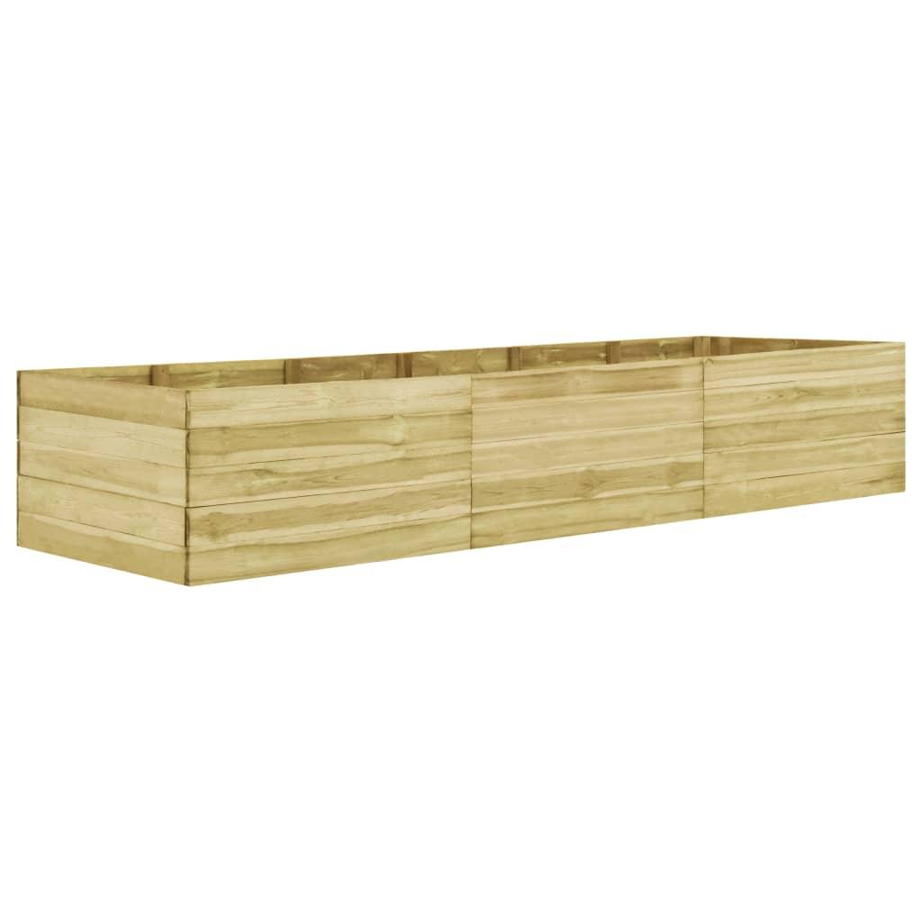 vidaXL Strat înălțat de grădină, 450x150x54 cm, lemn de pin tratat poza 2021 vidaXL