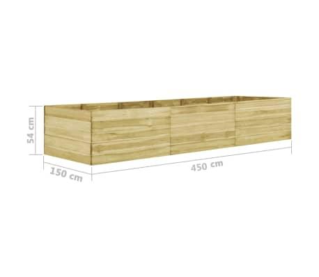 vidaXL Plantenbak 450x150x54 cm geïmpregneerd grenenhout[6/6]