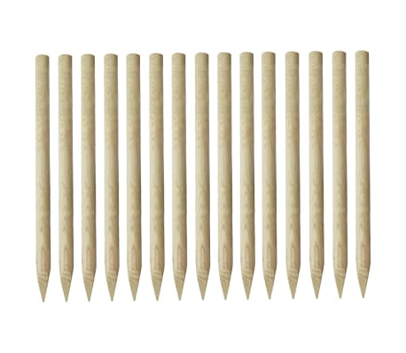 vidaXL Pointed Fence Posts 15 pcs Impregnated Pinewood 4x170 cm