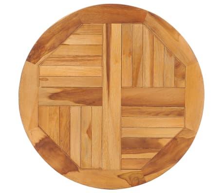 vidaXL Disque de table rotatif Bois de teck solide