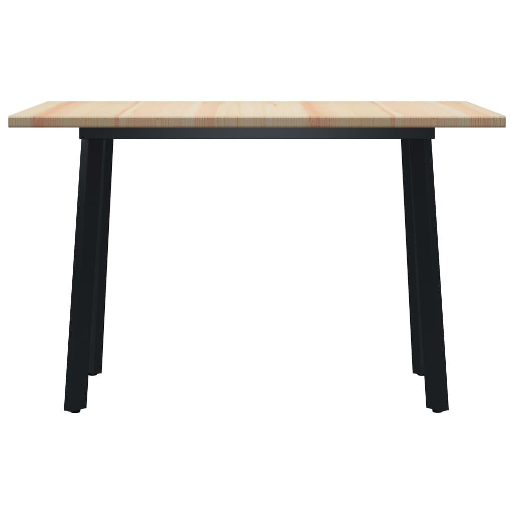 vidaXL Eettafel 120x60x76 cm grenenhout