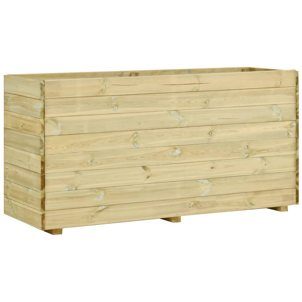 vidaXL Strat înălțat de grădină cu podea, 150x50x75cm, lemn pin tratat vidaxl.ro