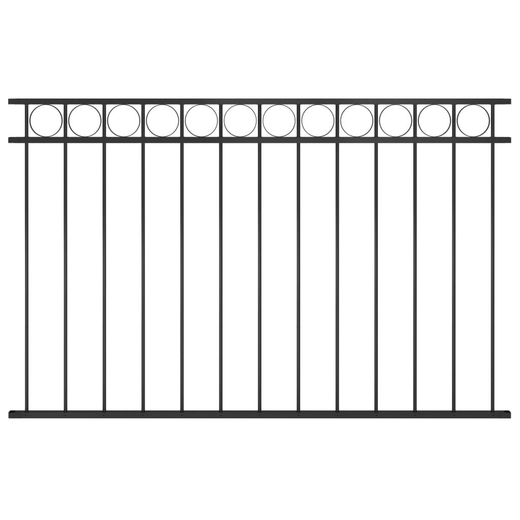 vidaXL Panou de gard, negru, 1,7 x 1 m, oțel poza 2021 vidaXL