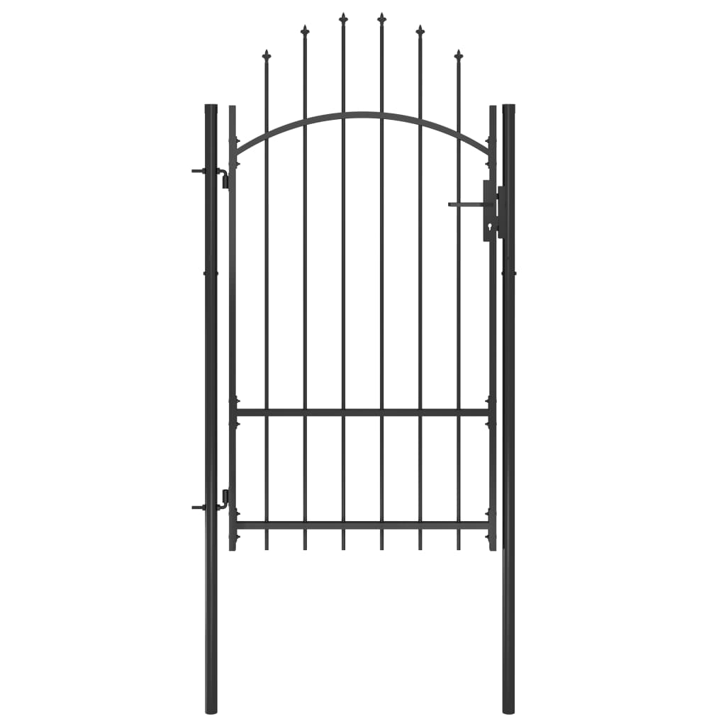 vidaXL Poartă de grădină, negru, 1 x 2,2 m, oțel vidaxl.ro