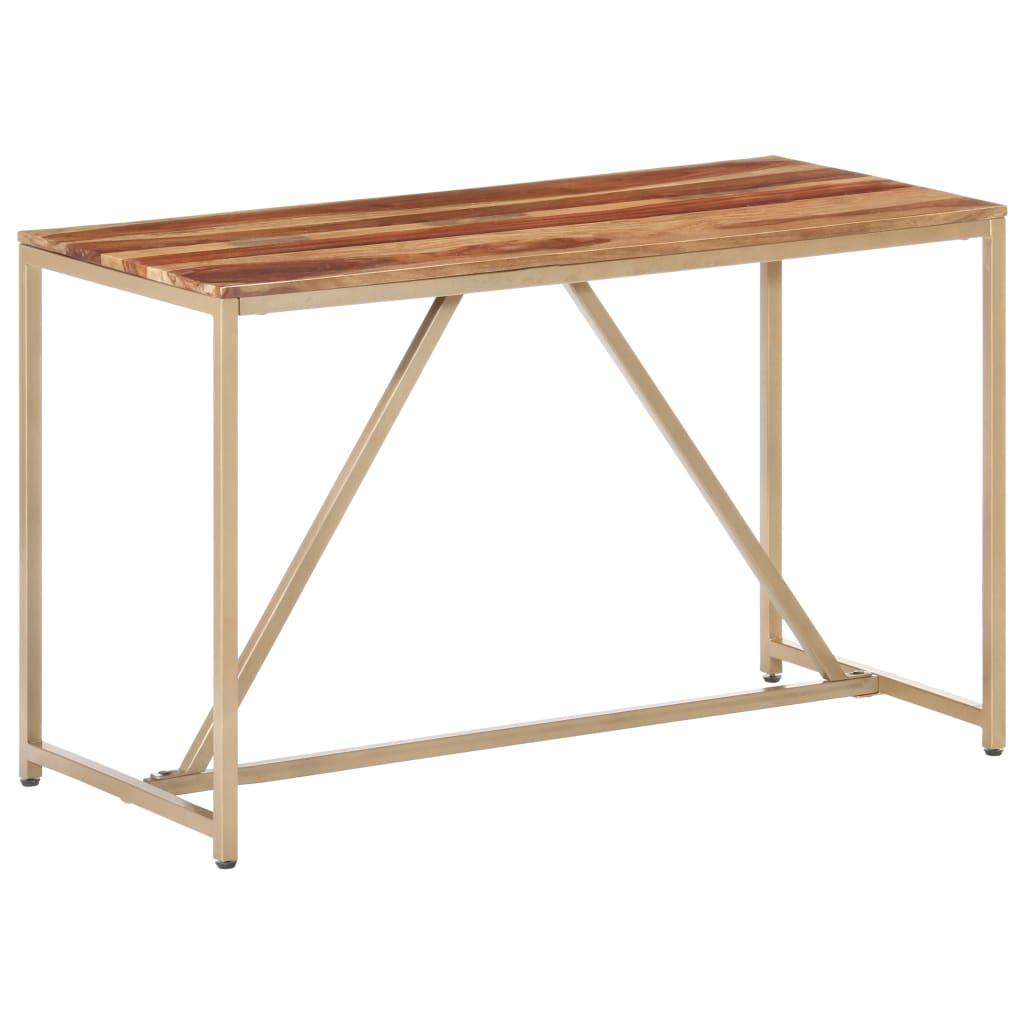vidaXL Masă de bucătărie, 120 x 60 x 76 cm, lemn masiv de sheesham vidaxl.ro