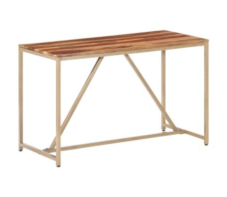 vidaXL Masă de bucătărie, 120 x 60 x 76 cm, lemn masiv de sheesham