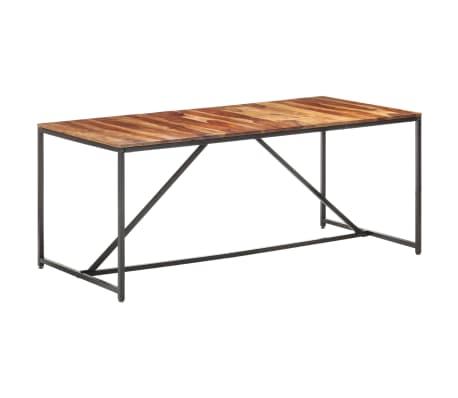 vidaXL Masă de bucătărie, 180 x 90 x 76 cm, lemn masiv de sheesham