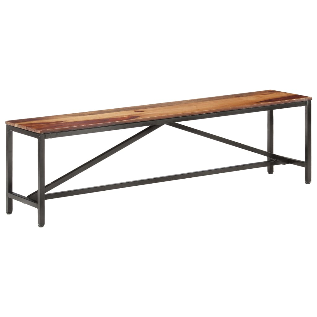 vidaXL Bancă, 160 cm, lemn masiv de sheesham imagine vidaxl.ro