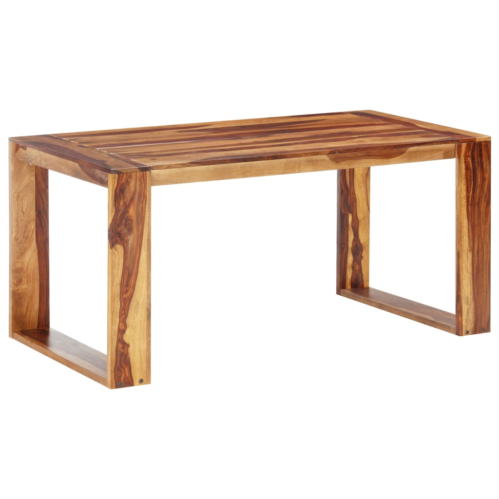 vidaXL Masă de bucătărie, 160 x 80 x 76 cm, lemn masiv de sheesham poza 2021 vidaXL