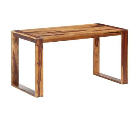 vidaXL Masă de bucătărie, 140 x 70 x 76 cm, lemn masiv de sheesham