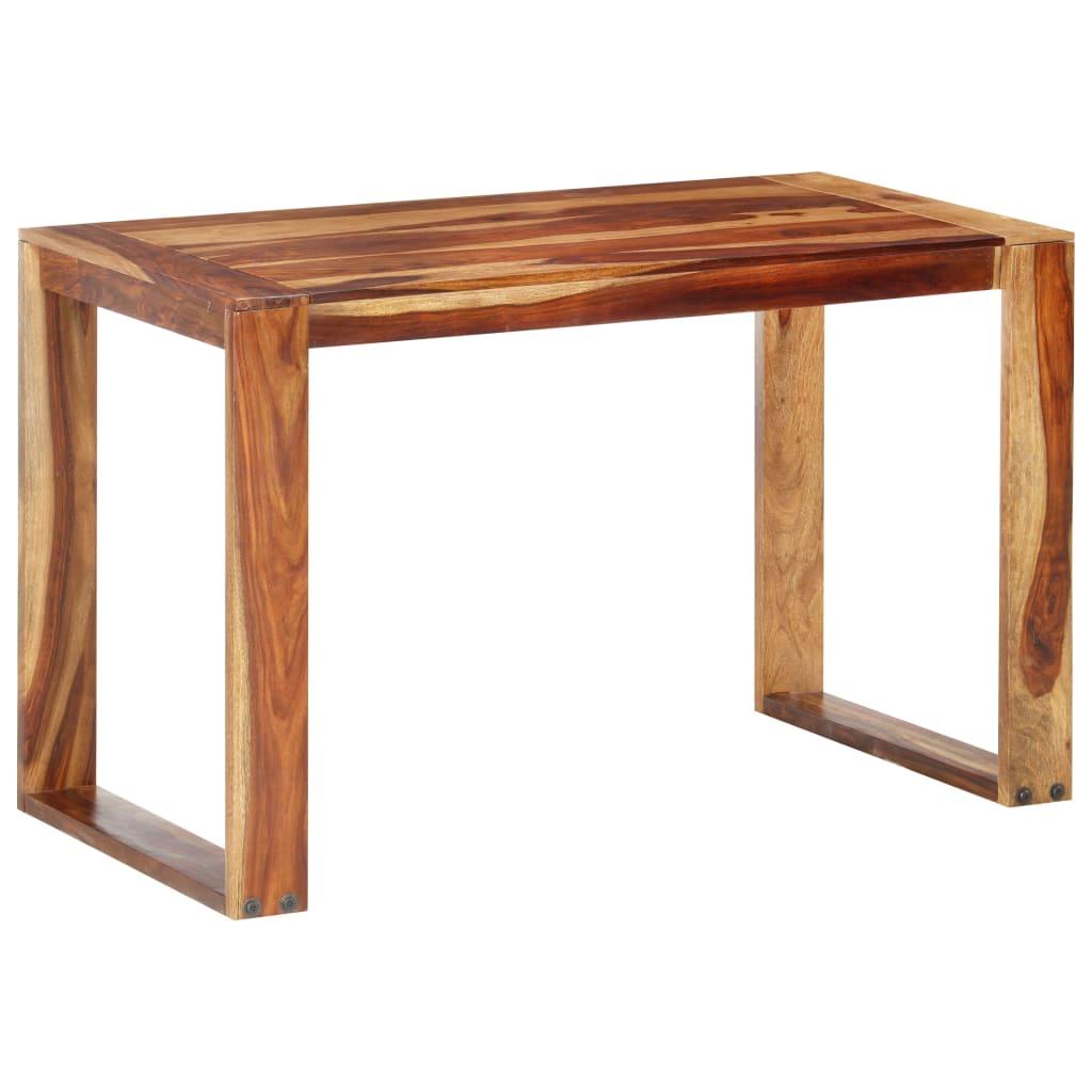 vidaXL Masă de bucătărie, 120 x 60 x 76 cm, lemn masiv de sheesham poza vidaxl.ro