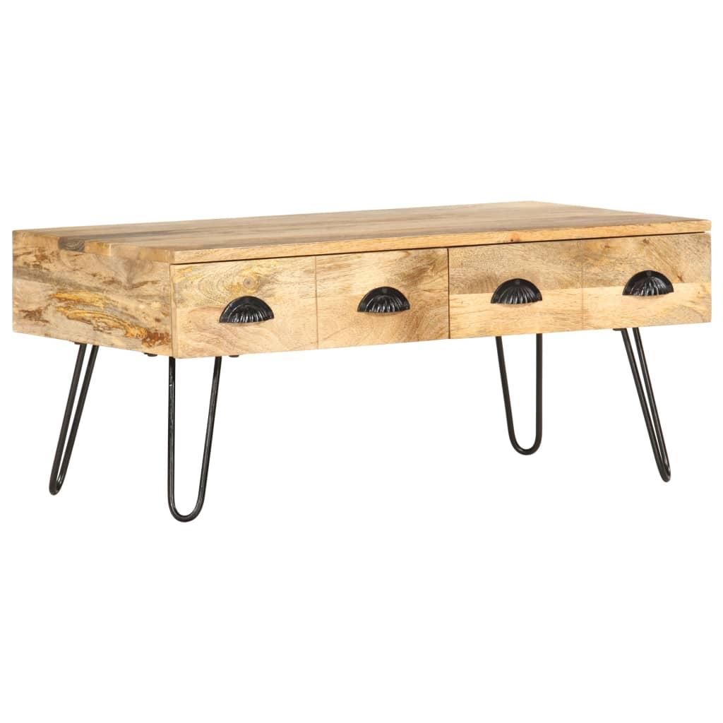 vidaXL Măsuță de cafea, 90 x 50 x 39 cm, lemn masiv de mango poza vidaxl.ro