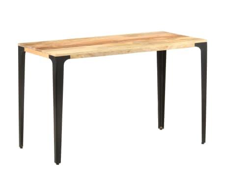 vidaXL Table de salle à manger 120x60x76 cm Bois solide de manguier