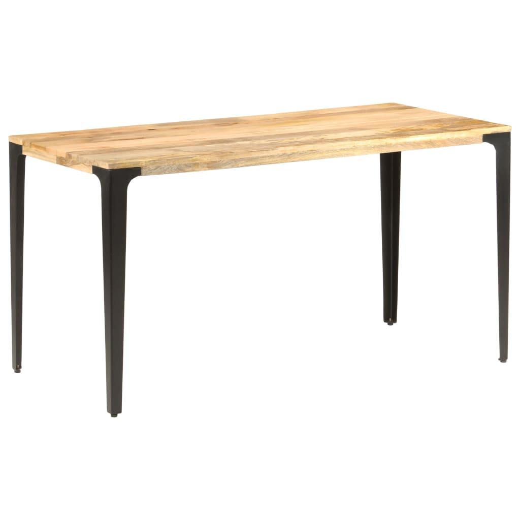 vidaXL Masă de bucătărie, 140 x 70 x 76 cm, lemn masiv de mango vidaxl.ro