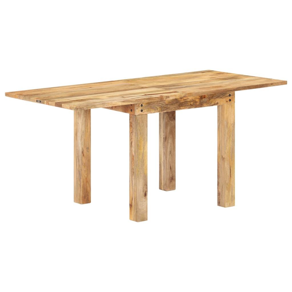 vidaXL Masă bucătărie extensibilă, 82x(80-160)x76 cm, lemn masiv mango vidaxl.ro