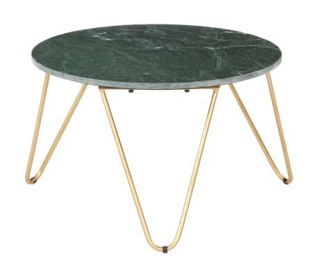vidaXL Salontafel 65x65x42 cm echt steen met marmeren textuur groen