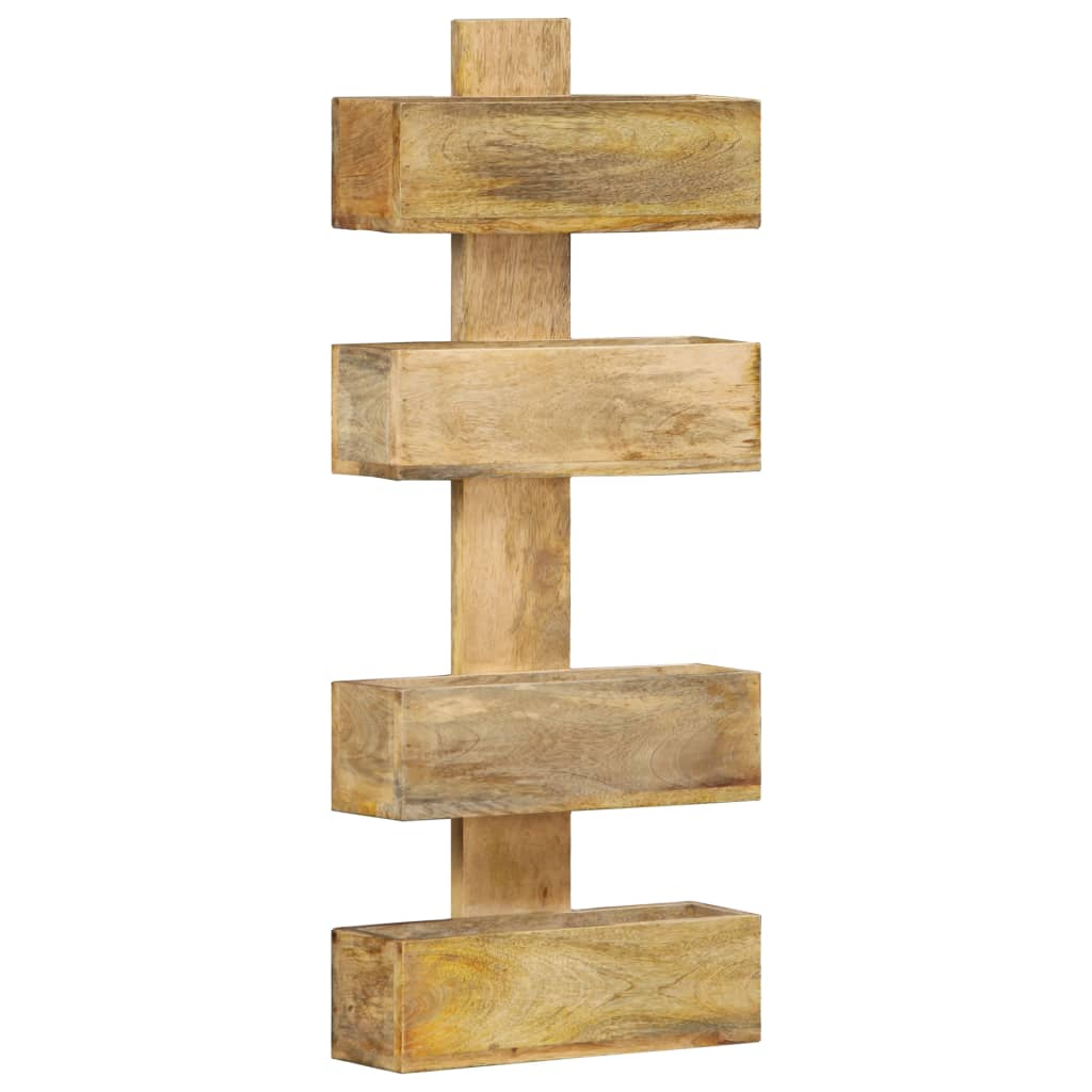 vidaXL Raft de perete pentru reviste 30x11x72 cm lemn masiv de mango imagine vidaxl.ro