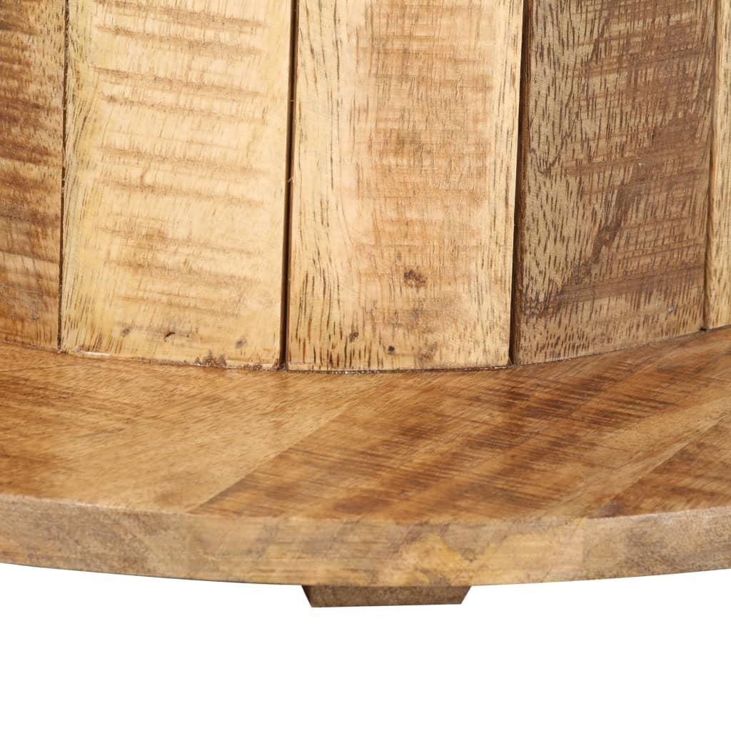 Bijzettafel rond 50x50x46 cm massief ruw mangohout