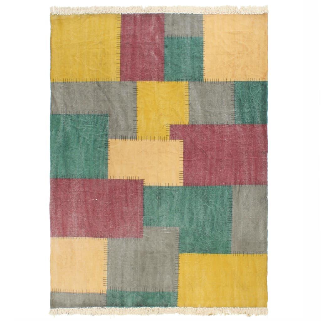 vidaXL Covor Kilim țesut manual, multicolor, 160 x 230 cm, bumbac vidaxl.ro