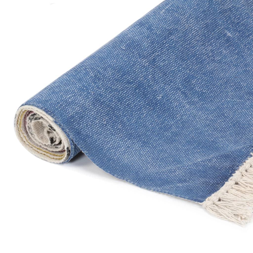vidaXL Kelim vloerkleed handgeweven 120x180 cm katoen meerkleurig