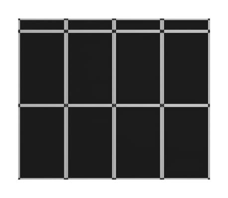 vidaXL 12-Panel Messewand Faltdisplay 242×200 cm Schwarz