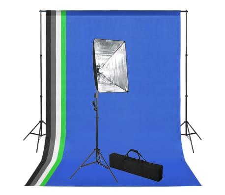 vidaXL Studioset med bakgrund och softbox