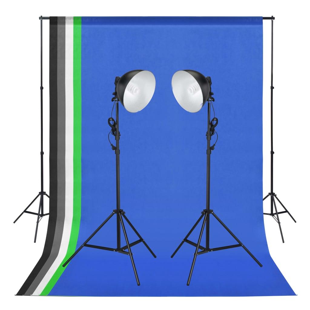 Foto studio set se světly a pozadím