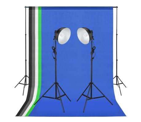vidaXL Studioset met lampen en achtergronden
