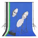 vidaXL Kit de studio photo avec toile de fond et jeu d'éclairage