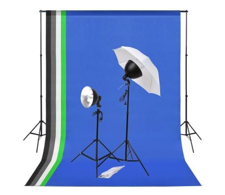 vidaXL Fotostudioset met verlichtingsset en achtergronden