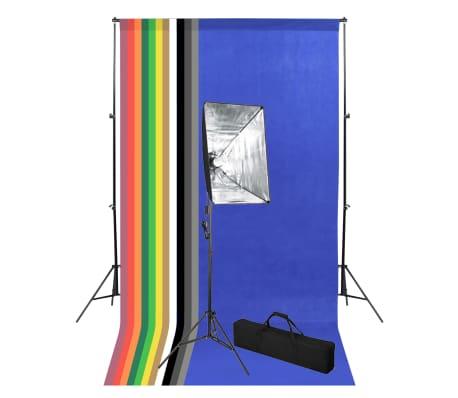vidaXL Kit de studio photo avec toile de fond et boîte à lumière[1/14]