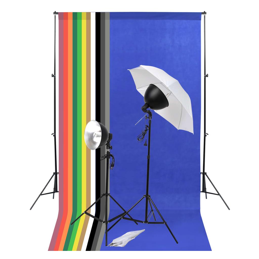 vidaXL Foto studio set s osvětlením a fotopozadím