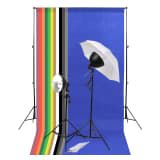 vidaXL Fotostudio-Kit mit Leuchten-Set und Hintergründen