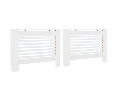 vidaXL Cache-radiateurs 2 pcs Blanc 112x19x81,5 cm MDF