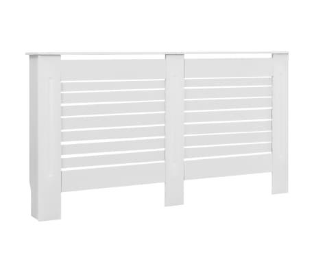 vidaXL Cache-radiateurs 2 pcs Blanc 152x19x81,5 cm MDF[3/8]